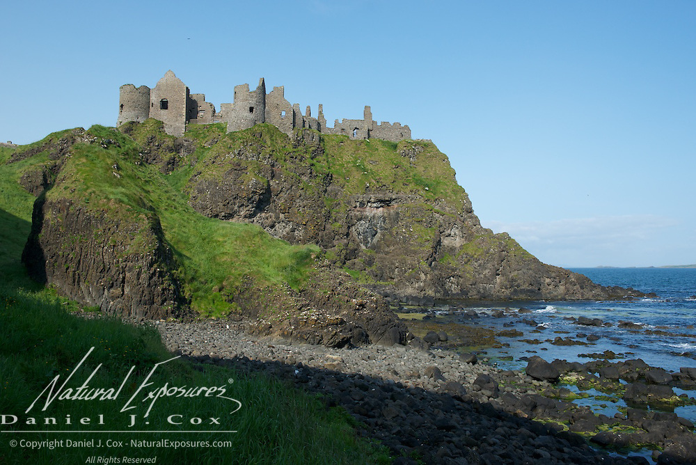 Dunluce Castle along the coast in Northern Ireland.