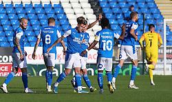 Sammie Szmodics of Peterborough United celebrates scoring his late winning goal with team-mates - Mandatory by-line: Joe Dent/JMP - 19/09/2020 - FOOTBALL - Weston Homes Stadium - Peterborough, England - Peterborough United v Fleetwood Town - Sky Bet League One