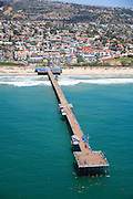 Aerial Stock Photo of San Clemente Pier