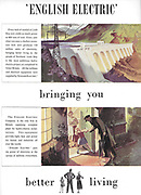 English Electric HEP hydro electricity advert advertising in Country Life magazine UK 1951