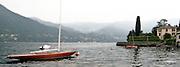 Sailboat on Como Lake