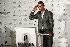 Lisbon: Ronaldo at the Inauguration of CR7 Pestana Hotel on Commerce Street, 2 October 2016