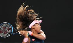 MELBOURNE, Jan. 17, 2019  Naomi Osaka of Japan returns the ball during the women's singles second round match against Tamara Zidansek of Slovenia at the Australian Open in Melbourne, Australia, Jan. 17, 2019. (Credit Image: © Bai Xuefei/Xinhua via ZUMA Wire)