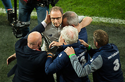 CARDIFF, WALES - Monday, October 9, 2017: Republic of Ireland manager Martin O'Neill reacts at the final whistle during the 2018 FIFA World Cup Qualifying Group D match between Wales and Republic of Ireland at the Cardiff City Stadium. (Pic by Peter Powell/Propaganda)