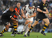 Wycombe. GREAT BRITAIN, Tigers No. 8 Jordan CRANE, during the, Guinness Premiership game between, London Wasps and Leicester Tigers on 25/11/2006, played at  Adams<br />  Park,<br />  ENGLAND. Photo, Peter Spurrier/Intersport-images]