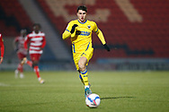 Portrait of Ryan Longman of AFC Wimbledon  during the EFL Sky Bet League 1 match between Doncaster Rovers and AFC Wimbledon at the Keepmoat Stadium, Doncaster, England on 26 January 2021.