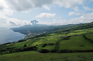 Clouds around Pico, the highest mountain of Portugal, Pico, Azores, Portugal
