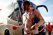 Nathan Ferguson arrives before the EFL Sky Bet League 2 match between Walsall and Crawley Town at the Banks's Stadium, Walsall, England on 18 January 2020.