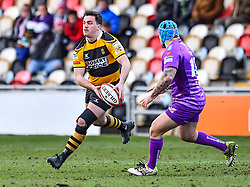 Newport's Owen Davies in action - Mandatory by-line: Craig Thomas/Replay images - 04/02/2018 - RUGBY - Rodney Parade - Newport, Wales - Newport v Ebbw Vale - Principality Premiership