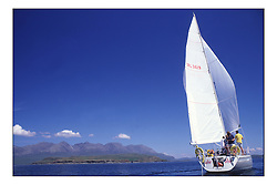 Cumbrae National Watersports Centre's Santa Vey Cruising the West Coast of Scotland by the Cullin Mountains of Skye.