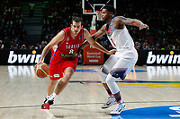 United States´s Gay (R) and Serbia´s Bjelica during FIBA Basketball World Cup Spain 2014 final match between United States and Serbia at `Palacio de los deportes´ stadium in Madrid, Spain. September 14, 2014. (ALTERPHOTOSVictor Blanco)