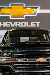 CHARLOTTE, NC, USA - November 11, 2015: Chevrolet Silverado on display during the 2015 Charlotte International Auto Show at the Charlotte Convention Center in downtown Charlotte.