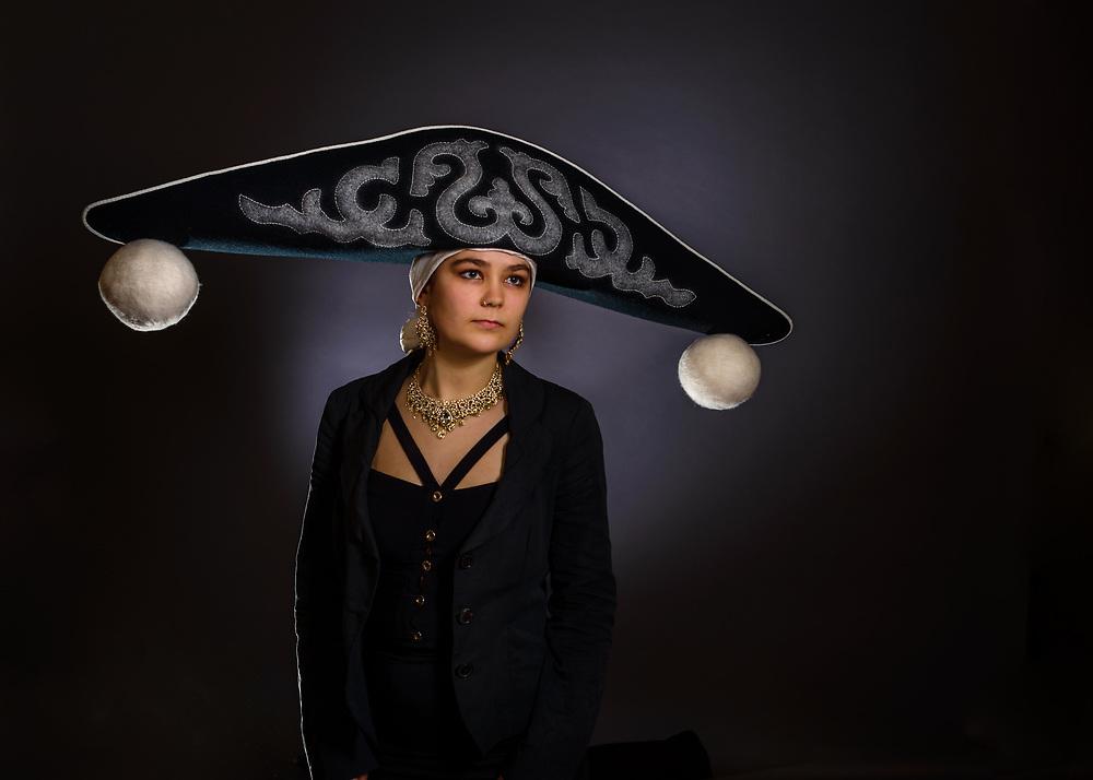 Bicorn Felt Hat, hand made by Rachel frost