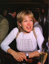 TV presenter MISS PENNY SMITH,  at a party in London on 24th May 1999.MSJ 42