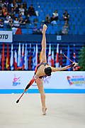 Neta Rivkin during Finnal at clubs in Pesaro World Cup at Adriatic Arena on 12 April 2015. Neta was born on June 23, 1991 in Petah Tiqwa Israel. <br />