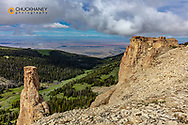 Cliffs in the Bighorn Mountains of Wyoming