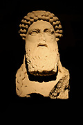 The only known copy that represents on both faces the Herm (Hermes Propylaios) type, sculptured by Alkamenes just after the middle of the 5th century BC.  The original statue was set up in the Propylaia of the Athenian Acropolis.  AD 75-100.