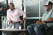 l to r; Kevin Frazier and Mos Def at Lincoln Presents ' Off the Red Carpet ' during the 2008 American Black Film Festival held at the Sofitel Hotel on August 8, 2008
