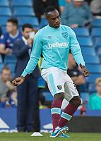 Football - 2016/2017 Premier League - Chelsea V West Ham United. <br /> <br /> Michail Antonio of West Ham, pre match, at Stamford Bridge.<br /> <br /> COLORSPORT/DANIEL BEARHAM