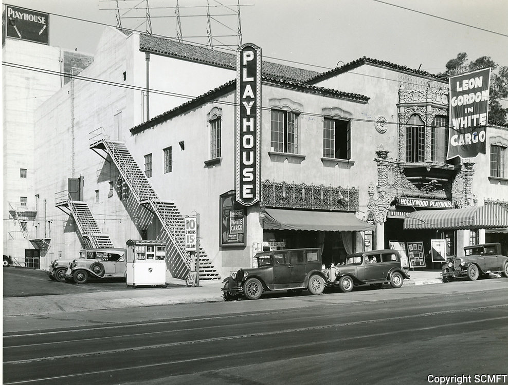 1930 Hollywood Playhouse Theater on Vine St.