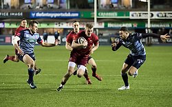 Munster's Stephen Fitzgerald<br /> <br /> Photographer Simon King/Replay Images<br /> <br /> Guinness PRO14 Round 15 - Cardiff Blues v Munster - Saturday 17th February 2018 - Cardiff Arms Park - Cardiff<br /> <br /> World Copyright © Replay Images . All rights reserved. info@replayimages.co.uk - http://replayimages.co.uk