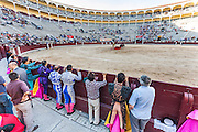 Bullfight Virgen de la Paloma festivity