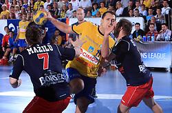 Drasko Mrvaljevic (11) at handball match of 4th Round of EHF Men Championsleague between RK Cimos Koper (SLO) and Steaua MFA Bucuresti (ROM), in Arena Bonifika, Koper, Slovenia, on November 8, 2008. Steaua  won the match 30:29.