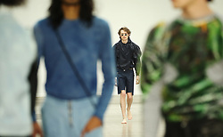 Models on the catwalk during the Per Gotesson London Fashion Week Men's SS20 show at the BFC Show Space Show, London. PRESS ASSOCIATION. Picture date: Sunday June 9, 2019. Photo credit should read: Isabel Infantes/PA Wire