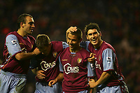 Photo: Andrew Unwin.<br />Sunderland v Aston Villa. The Barclays Premiership.<br />19/11/2005.<br />Aston Villa's Kevin Phillips (one from R) celebrates scoring his team's first goal.