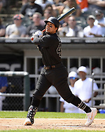 CHICAGO - AUGUST 25:  Jon Jay #45 of the Chicago White Sox bats against the Texas Rangers during Players Weekend on August  25, 2019 at Guaranteed Rate Field in Chicago, Illinois.  (Photo by Ron Vesely)  Subject:   Jon Jay