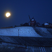 A super-moon eclipse hangs over the Mailly vineyards at Champagne Mumm at Mailly vineyard.G. H. Mumm & Cie, situated in Reims in northern France, is one of the largest Champagne producers and it is currently ranked 3rd globally based on number of bottles sold. The company is owned by Pernod Ricard.