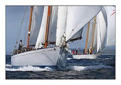 Day five of the Fife Regatta, Race from Portavadie on Loch Fyne to Largs. <br /> <br /> Latifa, 8, Mario Pirri, ITA, Bermudan Yawl, Wm Fife 3rd, 1936, Astor, Richard Straman, USA, Schooner, Wm Fife 3rd, 1923<br /> <br /> * The William Fife designed Yachts return to the birthplace of these historic yachts, the Scotland's pre-eminent yacht designer and builder for the 4th Fife Regatta on the Clyde 28th June–5th July 2013<br /> <br /> More information is available on the website: www.fiferegatta.com