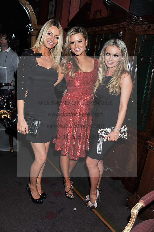 Left to right, TESS DALY, HOLLY VALANCE and OLA JORDAN at the 39th birthday party for Nick Candy in association with Ciroc Vodka held at 5 Cavindish Square, London on 21st Januatu 2012.