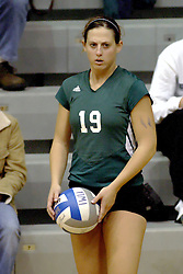 27 October 2006: Titan Natalie Quinton. The Bears won the match 3 games to 1. The match between the Washington University Bears and the Illinois Wesleyan Titans took place at Shirk Center on the IWU campus in Bloomington Illinois.<br />