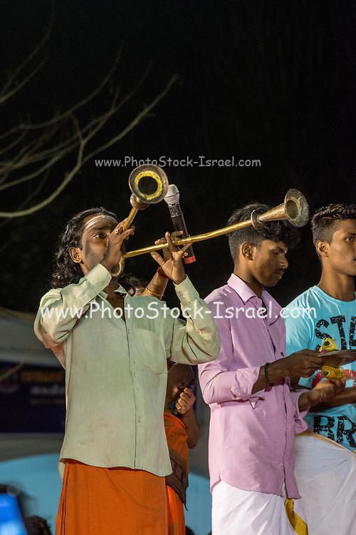Indian Ethnic folk music during an ethnic festival in Jerusalem, Israel