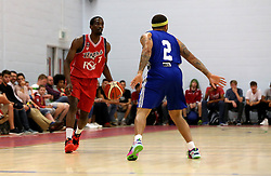 Hameed Ali of Bristol Flyers takes on Chris Witherspoon of USA Select - Mandatory by-line: Robbie Stephenson/JMP - 08/09/2016 - BASKETBALL - SGS Arena - Bristol, England - Bristol Flyers v USA Select - Preseason Friendly
