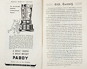 All Ireland Senior Hurling Championship Final,.Brochures,.03.09.1950, 09.03.1950, 3rd September 1950, .Tipperary 1-9, Kilkenny 1-8, .Minor Tipperary v Kilkenny,.Senior Tipperary v Kilkenny, .Croke Park, ..Advertisements, Paddy Whisky Cork Distilleries Co Ltd, ..Articles, Cill Cainnis,