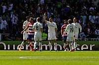 Real Madrid´s Karim Benzema during 2014-15 La Liga match between Real Madrid and Granada at Santiago Bernabeu stadium in Madrid, Spain. April 05, 2015. (ALTERPHOTOS/Luis Fernandez)