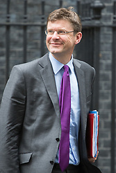 Downing Street, London, August 2nd 2016. Secretary of State for Business, Energy and Industrial Strategy Greg Clark leaves Downing Street following the Economic and Industrial Strategy Committee meeting. The committee is comprised of eleven cabinet ministers and has been set up by Prime Minister Theresa May to ensure that Britain is in the best position to successfully leave the European Union.