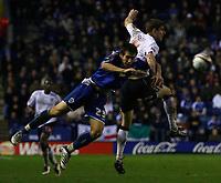 Photo: Steve Bond/Sportsbeat Images.<br />Leicester City v West Bromwich Albion. Coca Cola Championship. 08/12/2007. Zoltan Gera (R) is challanged by Joe Mattock (L)