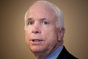 """02 MARCH 2007 -- PHOENIX, AZ: US Senator (and Republican Presidential nominee) John McCain (R-AZ) hosted a fundraiser called an """"Exchange of Ideas"""" in the convention center in Phoenix, AZ, Friday, March 2, 2007. About 500 people attended the event.   PHOTO BY JACK KURTZ"""