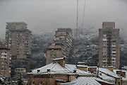 A general view of the residential buildings of the city centre of Kapan, Syunik Province in Southern Armenia,  pictured on Friday, Dec 18, 2020. Unverified reports suggest that the Mayor of Kapan Gevorg Parsyan have said that the military positions of 13 settlements of Syunik region including Kapan, should be surrendered to Azerbaijan by Friday, 5/pm. Kapan is a provincial capital of Syunik Province in southeast Armenia. It is located in the valley of the Voghji River and is on the northern slopes of Mount Khustup. Kapan lays along the disputed borderline with Azerbaijan with whom Armenia's long-standing frozen conflict escalated into a full scare of war for the 3rd time on Sept 27, 2020. (Photo/ Vudi Xhymshiti)