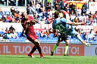 Milinkovic Savic Lazio, Bruno Peres Roma.<br /> Roma 30-04-2017  Stadio Olimpico<br /> Campionato Serie A, <br /> AS Roma - Lazio<br /> Foto Antonietta Baldassarre / Insidefoto