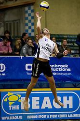 08-01-2011 VOLLEYBAL: CEV SATELLITE INDOOR BEACHVOLLEYBALL: AALSMEER<br /> The first CEV Indoor beachvolleyball tournament / Martin Reader CAN<br /> ©2011-WWW.FOTOHOOGENDOORN.NL / Peter Schalk