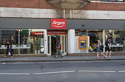 Lance enters Argos where he was unable to obtain a knife after being asked for ID in an exercise where a 17-year-old visited numerous big brand shops on Streatham High Road in an attempt to purchase a knife to illustrate the extent of knife control and age checking in London stores. Streatham, London, August 30 2019.