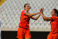 Fifa Womans World Cup Canada 2015 - Preview //<br /> Cyprus Cup 2015 Tournament ( Gsp Stadium Nicosia - Cyprus ) - <br /> Netherlands vs England 1-1   //  Anna Miedema of Netherlands (L) , celebrates with team mates Lieke Martens after his Goal (1-0)