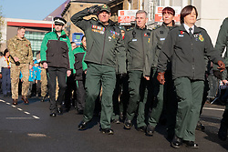 Remembrance Sunday Barnsley march past<br /> <br />  Copyright Paul David Drabble<br />  10 November 2019<br />  www.pauldaviddrabble.co.uk