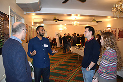 Norwich, UK, 11 November 2017. Open Day at the Rose Lane Mosque, Norwich. This communal event allows the wider community to visit and learn about Islam and the way of life of 5% of the UK population. Credit Liz Somerville/Alamy Live News