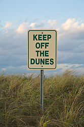 Keep Off The Dunes Sign in East Hampton, NY