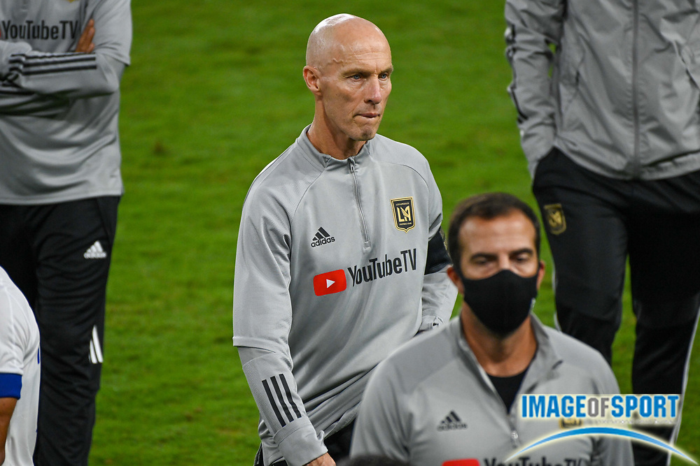 LAFC head coach Bob Bradley during a MLS soccer game, Sunday, Sept. 27, 2020, in Los Angeles. The San Jose Earthquakes defeated LAFC 2-1.(Dylan Stewart/Image of Sport)